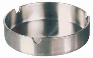 Edelstahl-Aschenbecher